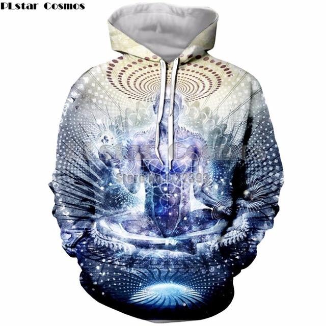 cb7b79827cd PLstar Cosmos Novelty Sweatshirt Buddha Hoodie For Women Men Buddha  Gratitude Hoodies Psychedelic Tracksuit Female Male Tops