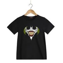 Cotton Short Sleeve Children T-Shirts DC Comic Batman The Joker Kids Tees T Shirts Boys Grls Child Wear Children Clothing