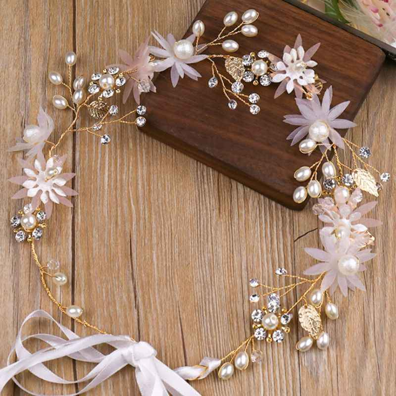 Шикарная заколка в виде цветка шпилька ободок розовый цветок жемчуг ювелирные изделия Головные уборы Свадебные ювелирные изделия палочка украшения, рождественские подарки Горячие
