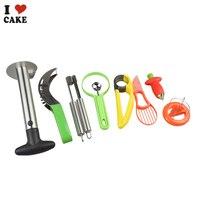 Fruit Cutter Watermelon Slicer Kitchen Gadgets Stainless Steel Apple Corer Jujube Corer Fruit Digging Spoon Kirchen cutter set