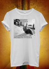 Cat Kitten Meow Funny Men Women Unisex T Shirt Top Vest 1197 New Shirts Tops Tee
