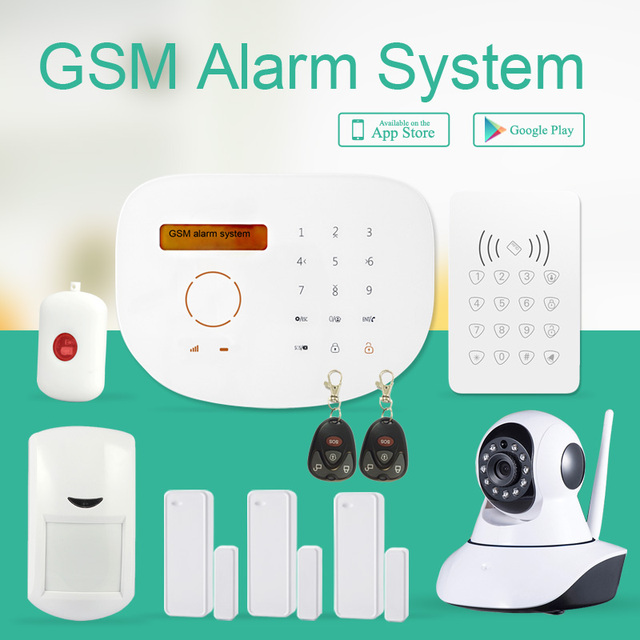 Android/iOS APP Control Wireless Security Home Alarm System Based In IP  Camera Low Cost