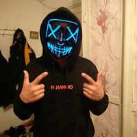 Декоративный светодиодный светильник на Хэллоуин, вечерние неоновые маски для костюмированной вечеринки, для вендетты, для Хэллоуина, вече...