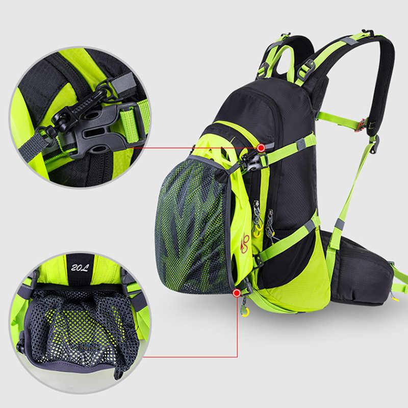 20L waterproof MTB da bicicleta da bicicleta mochila para homens, sacos de bicicleta de ciclismo mochila com capa de chuva, estrada bicicleta hidratação mochila