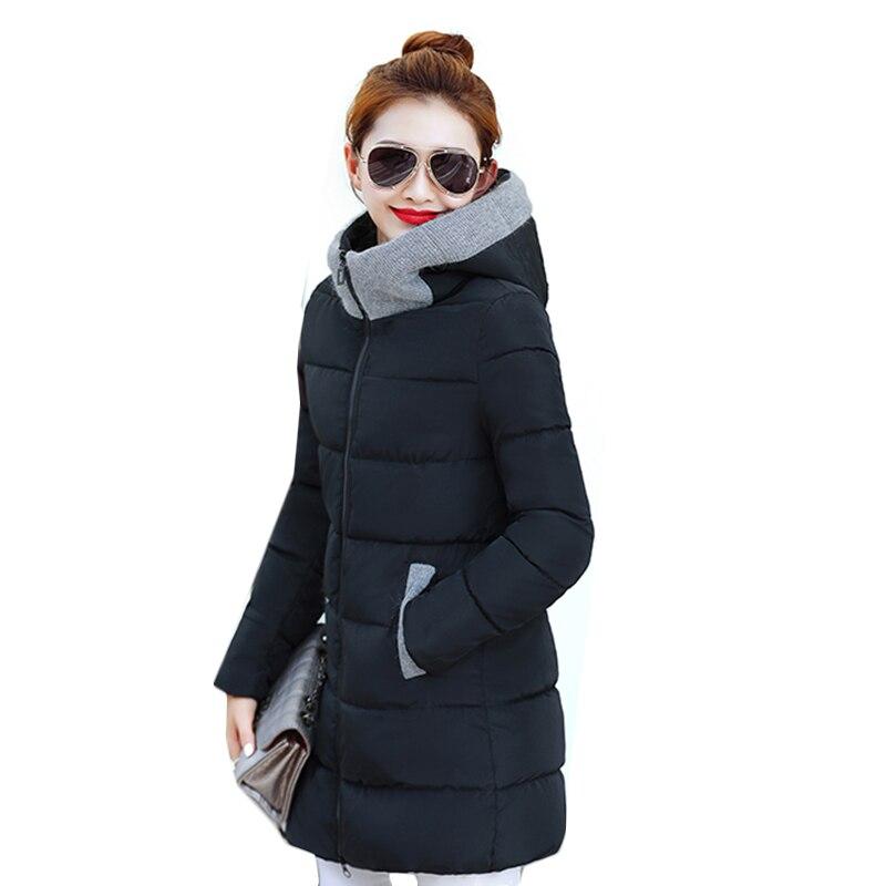 2018 High Quality Ladies Winter Jacket Women Long Overcoat long Winter Jacket Women thicken warm hooded