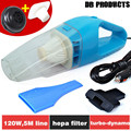 2014Brand New 120W Super Suction Mini 12V High suction Wet and Dry Portable Handheld Car Vacuum Cleaner Free Shipping