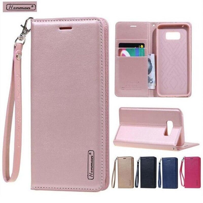 Hanman Flip Leather Wallet Cover Case For Samsung Galaxy S9 S8 A8 Plus S7 Edge S6 C7 C5 C9 Pro Note 8 5 4 3 J4 J6 J2 PRO A5 A7