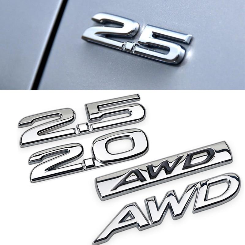 Металлическая 3d-наклейка для Mazda 2,0 2,5 AWD, задняя боковая Эмблема багажника для Mazda 6 2 5 3 CX 5 CX3 CX4 CX7 CX9 RX7 MX3 Protege Axela