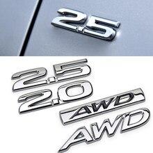 Dla Mazda 2.0 2.5 AWD bagażnika z tyłu boczne godło dla Mazda 6 2 5 3 CX 5 CX3 CX4 CX7 CX9 RX7 MX3 Protege Axela metalowa naklejka 3D naklejka