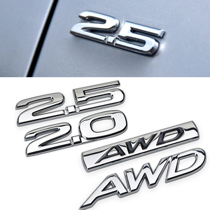 For Mazda 2.0 2.5 AWD Rear Trunk Side Emblem for Mazda 6 2 5 3 CX 5 CX3 CX4 CX7 CX9 RX7 MX3 Protege Axela Metal Sticker 3D Decal