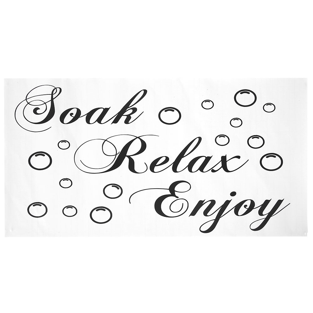 a4bcd06479b7 Bathroom Soak Relax Enjoy Vinyl Art Wall Sticker Home Decoration Decor