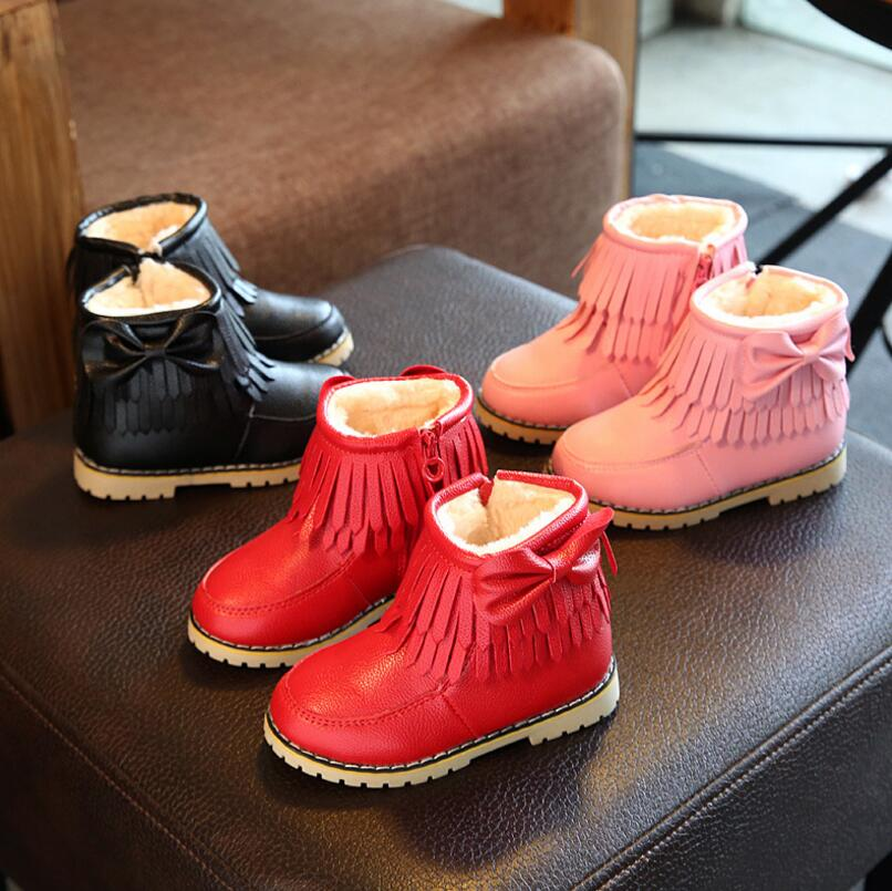 Girls-Snow-Boots-Kids-Shoes-Plush-Butterfly-Knot-Tassel-Zipper-Thick-Bottom-Shoes-Waterproof-Fringe-Short-Boot-bota-menina-3