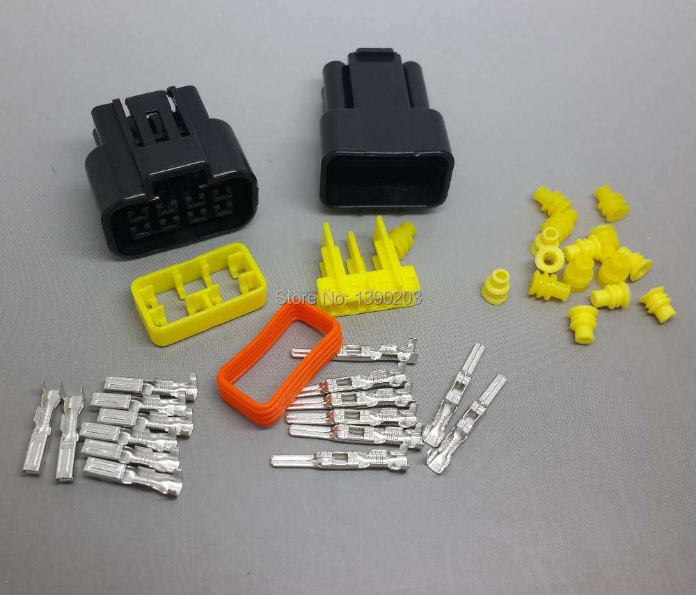 online get cheap car male female wire connectors 8 pin aliexpress 4 kits 8 pin car waterproof wire plastic connectors 1 5mm terminals male and female