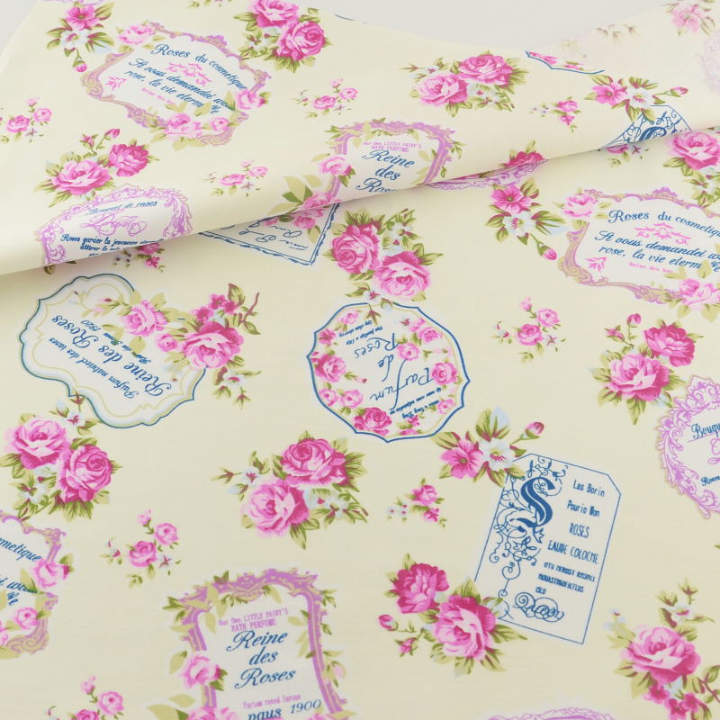 Retro rosa de tela de algodón textiles para el hogar ropa de cama patchwork quil