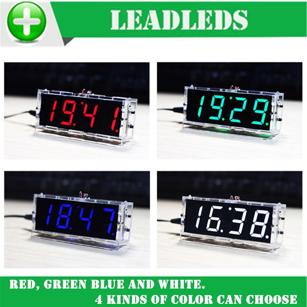 DIY СКМ цифровые часы люкс касающиеся 1 дюймов светодиодный цифровой трубки электронные часы DIY части с оболочкой