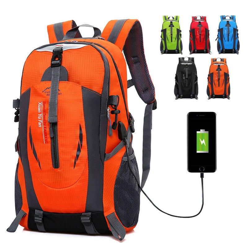 USB Rechargeable Bag 2018 New Travel Backpack Men Large Trekking Bag Travel bag Women Backpack Nylon Backpack Five Colors ...