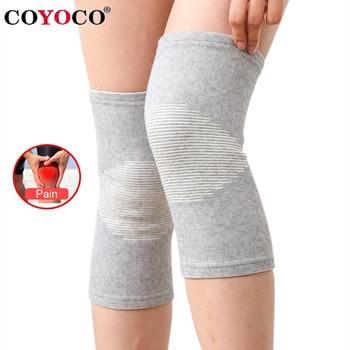 COYOCO genouillère protecteur 1 pièces jambe arthrite blessure manchon de gymnastique bande élastique genouillère charbon de bois genouillères tricotées au chaud