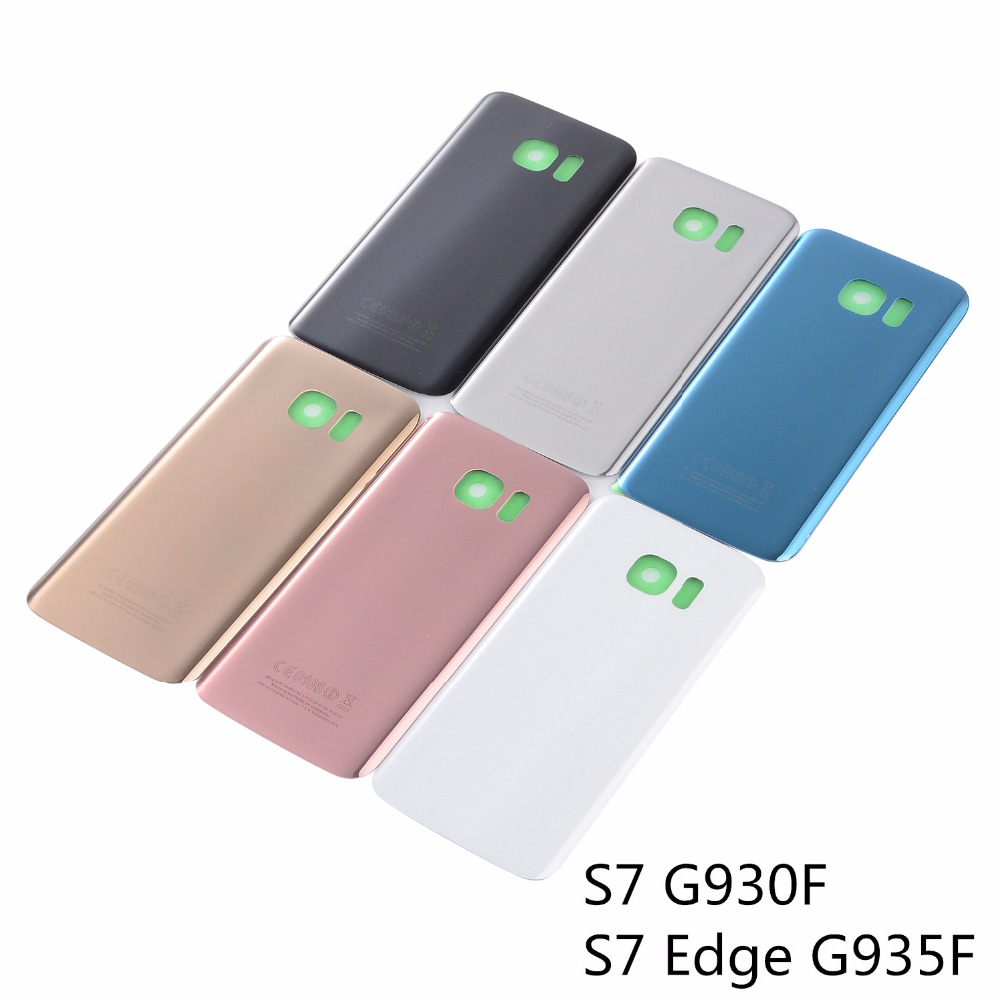 <font><b>Battery</b></font> Cover for Samsung <font><b>S7</b></font> G930F <font><b>S7</b></font> <font><b>Edge</b></font> G935F <font><b>Glass</b></font> Rear Back <font><b>Battery</b></font> Door Housing Cover 3M Glue Replacement Repair Spare Par