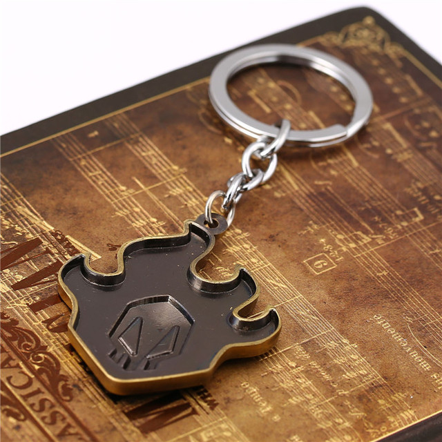 Anime Jewelry Bleach Logo Bronze Alloy Keychain