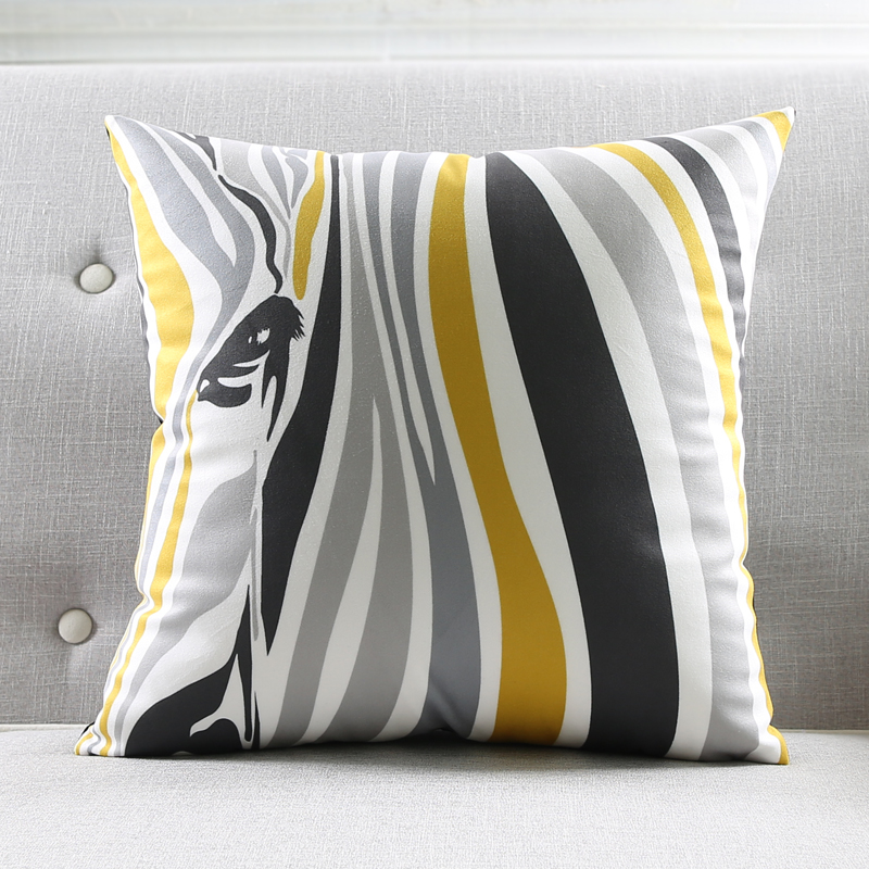 Double Side Print Supersoft Velvet Pillow Cover Grey Geometric Cushion  Cover Zebra Home Decor Pillows Decorative Pillow Case  In Cushion Cover  From Home ...