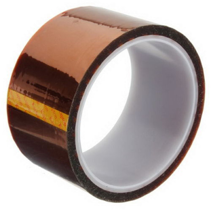 33M/Roll Kapton Tape Adhesive High Temperature 200-220℃ Heat Resistant Polyimide 5/10/20/30/50mm Thickness Adhesive Tape J50
