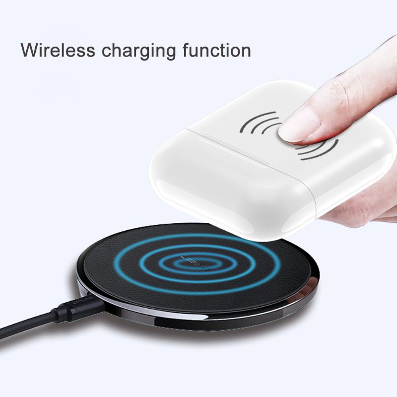 Image 3 - Built in 450mAh Wireless Charging Case Receiver Overload Protection Protective Case For Apple Airpods Bluetooth Headset Accessor-in Earphone Accessories from Consumer Electronics
