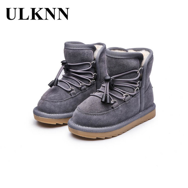 ULKNN 2018 New Toddle Girls Winter Boots Baby Snow Boots Warm Plush Shoes  Kids Ankle Shoes efc7e37c4f40