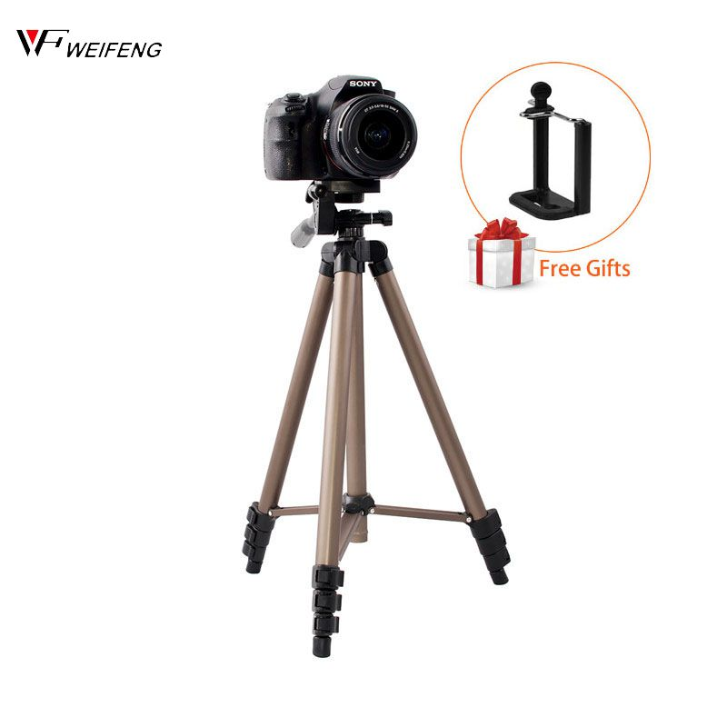 WEIFENG WT3130 Aluminum Alloy Mini Camera Tripod Stand With Phone Holder For Canon Nikon Sony DSLR Digital Camera DV Camcorder