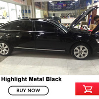 Highlight Metal Black Gloss Black Vinyl Wrap Glossy Film Car Wrapping Glossy Roll Car Styliny Super
