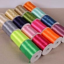 800 Meters/Roll 3mm de Largura de Poliéster Fita Chrismas Dom Casa Casamento Decoração Envoltório Fitas Handmade Material de Acessórios DIY