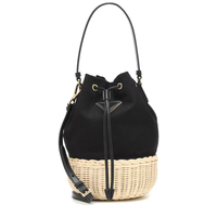 Women Luxury brand design handbag sheepskin Genuine Leather rattan torebka wiklinowa bags bucket bolsa feminina message bag 2019