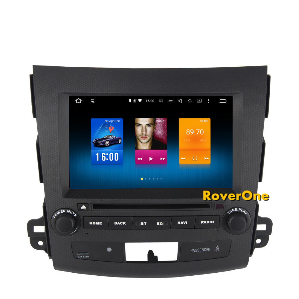 Pour Mitsubishi Outlander XL EX Android 8.0 Autoradio GPS Navigation DVD de Voiture Radio Stéréo Media Center Centrale Multimédia