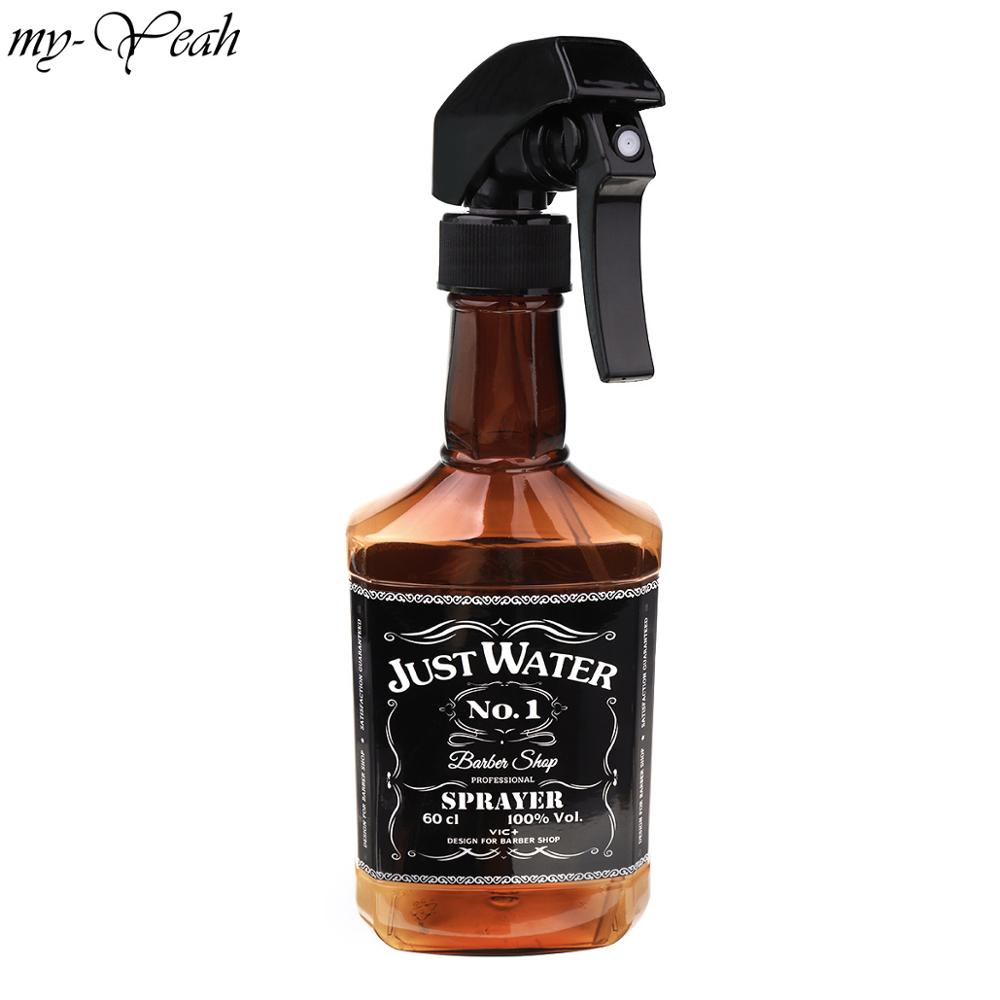 350ml Whiskey Refillable Sprayer Bottle Portable Oil Liquid Water Empty Atomizer Professional Barber Hairdressing Tool