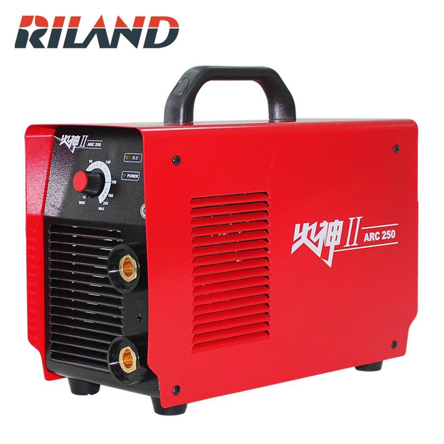 RILAND ARC250II 220 v 15-200A Mini MMA Handheld Elektrische Schweißer Inverter Argon ARC Schweißen Maschine Werkzeug