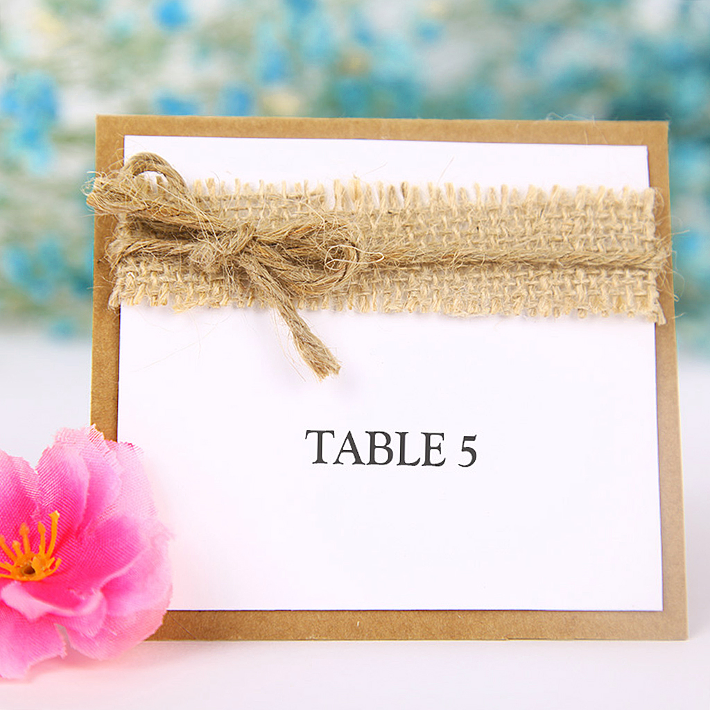 Shabby Chic Wedding Table Decorations: 10pcs Guest Decorative Party Name Table Place Cards For