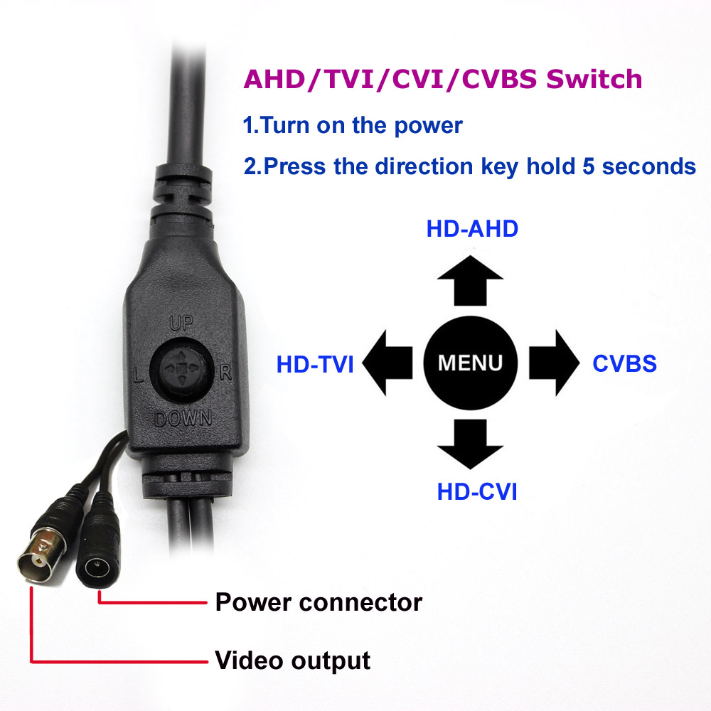 Image 2 - HD Starlight 0.0001Lux NVP2441 + IMX307 4в1 AHD TVI CVI CVBS 2mp CCTV камера Модуль безопасности печатная плата 1080P с объективом osd кабель-in Камеры видеонаблюдения from Безопасность и защита