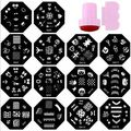 20PCS Plates +1 Stamper + 1 Scraper 60 Designs Optional For Choosing Nail Art Image Konad Print Stamp Stamping Manicure Template