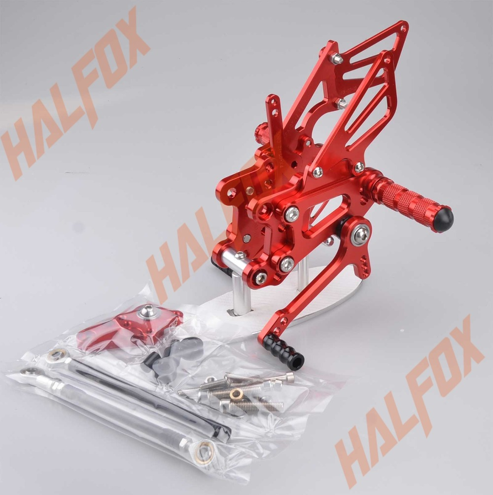 Red CNC Rearset Foot  Pegs Rear Set For  Honda CBR600RR F5 2007 2008 2009 2010 2011 2012 2013 2014