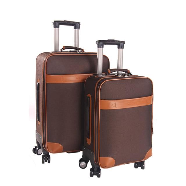 55ebd59dba43 Free Shipping Spinner Wheels Luggage Road Bags Women Trolley Travel Bags  Unisex Travel Luggage Oxford Cloth