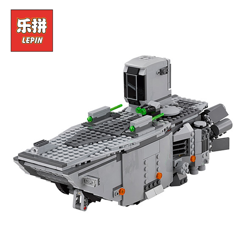 LEPIN 05003 Stars Series War Force Awakens First Order Transporter DIY Set Model Building Kits Blocks Bricks Children Toys Gift lepin 05077 stars series war the ucs rupblic set star destroyer model cruiser st04 diy building kits blocks bricks children toys