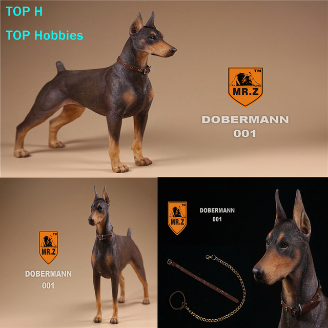 mr z real animal 10th db001 1 6 german doberman statue for 12