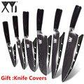 XYj 7Cr17 cuchillo de cocina de acero inoxidable cubertería utensilios de cocina Damasco venas cuchillo de acero inoxidable accesorios de herramientas