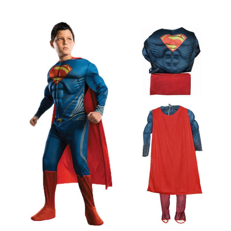 JYZCOS костюмы Супермена костюмы на Хэллоуин для детей мальчиков аниме супергерой Мстители Косплей Пурим карнавальное костюм