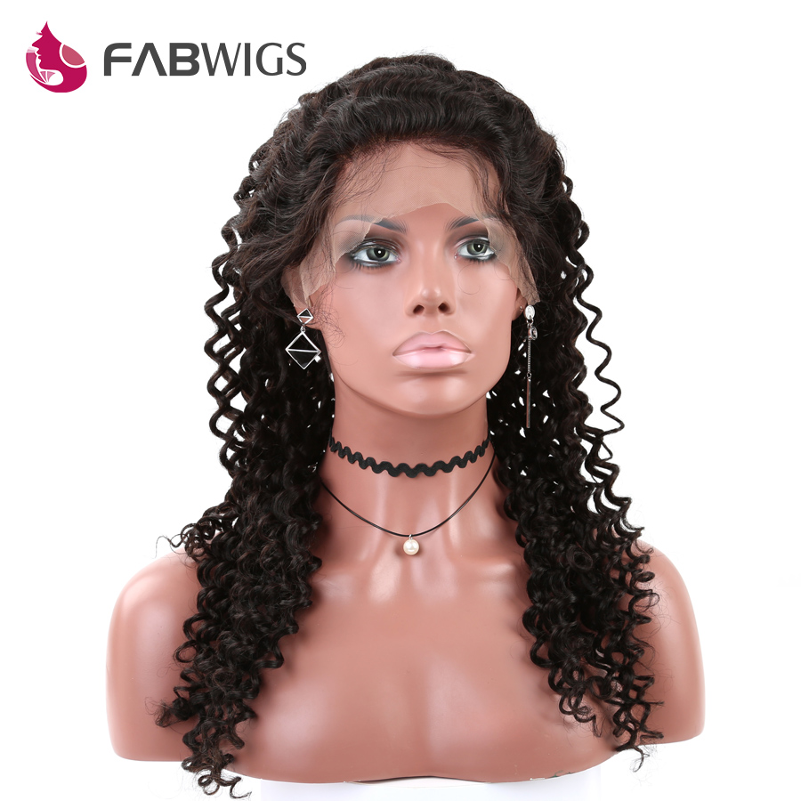 Brazilian Human Hair Full Lace Wigs With Baby Hair Full Lace Human Hair Wigs For Black Women Deep Curl Full Lace Wigs