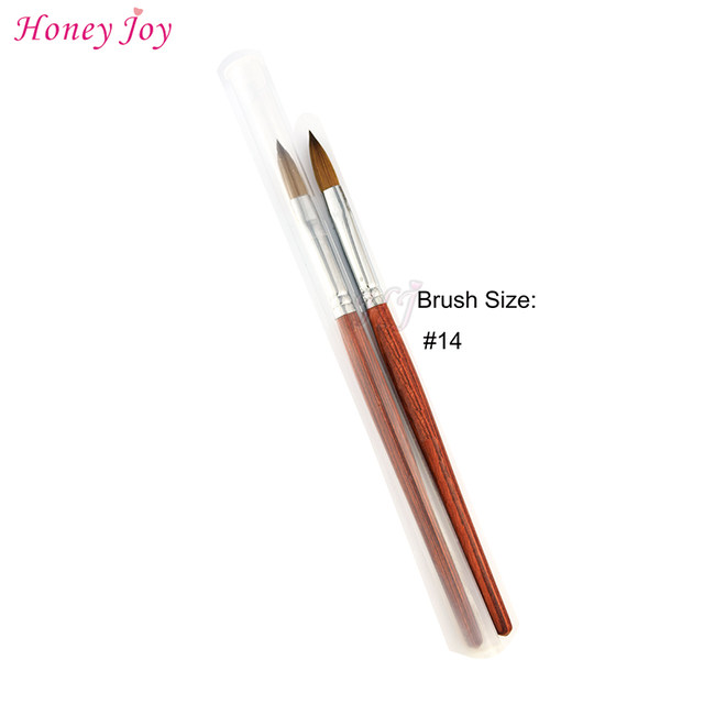 Online Shop SIZE no.14 / no.12 Kolinsky Sable Acrylic Nail Art Brush ...