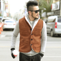Fur Vest Men Vest Sleeveless Jackets Homme Warm Autumn Waistcoat Winter Cotton Padded Mens Gilet