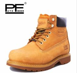 Pathfind brand Hot sale Mens Leather 2019 Tooling military Boots Men Outdoor Casual Shoes Retro Autumn Winter men timber Boots