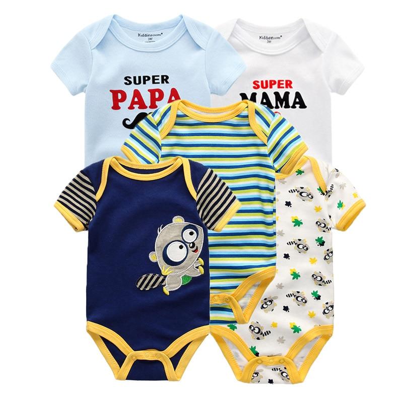 Kiddiezoom детские комбинезоны пижамы для маленьких девочек Дети Bebe Infantil одежда для новорожденных одежда из хлопка Одежда для маленьких мальчиков, Товары для детей - Цвет: baby clothes 5905