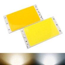 Pure/теплый чип бисера cob яркий полосы ультра dc света лампа led