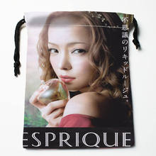 Custom Amuro Namie printed Satin storage bag drawstring gift bags More Size storage custom your image 27x35cm